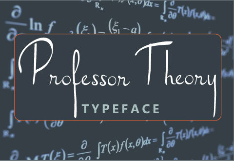 Professor Theory cursive typeface